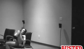 Nasty princess chilling in the black chair during masturbation