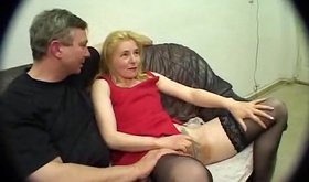 Amateur chick gets groped by two guys before casting